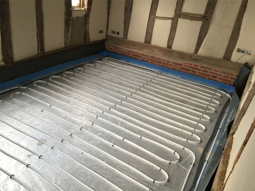 Installation Pictures Bedroom UFH Loop